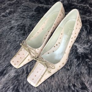 Light Pink Polka Dot Kitten Heel